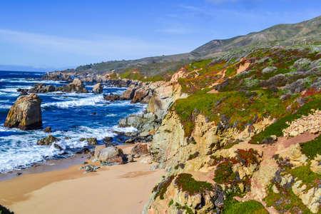 shore of the ocean. Sea coast, rocks, sea