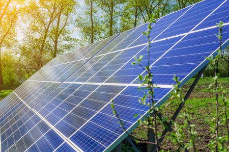 Solar panel produces green, environmentally friendly energy from the sun.