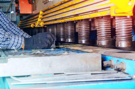 Part of sheet metal bending machine.