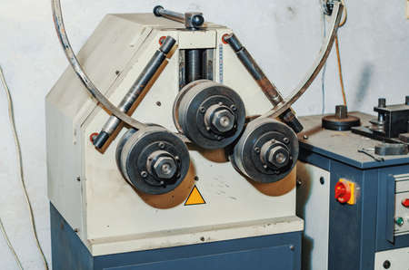 Pipe bending machine.