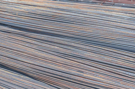 Metal building reinforcement thick in stacks folded.