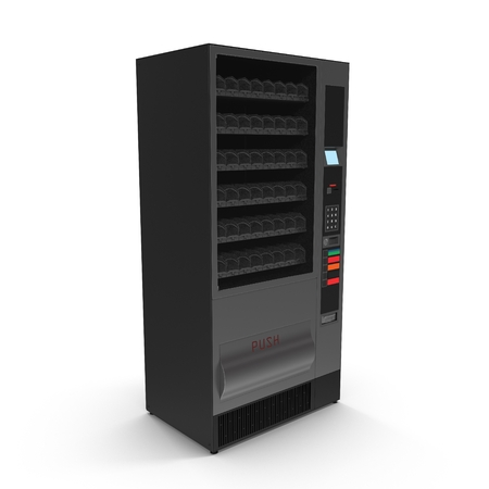 Vending machine for drinks on White Background Stock Photo