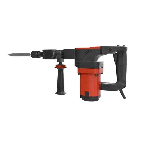 3d model of electric demolition jack hammer on white background photo