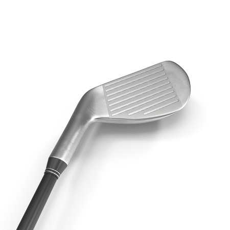 iron fun: 3d model of modern golf club isolated on white background. Stock Photo