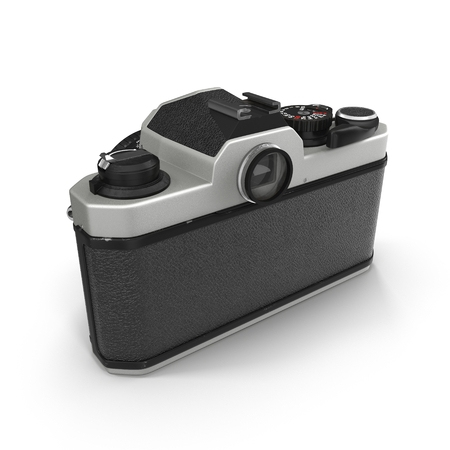 finder: 3d model of Retro camera isolated on white background