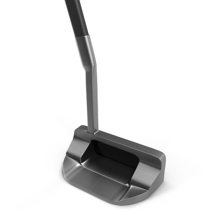 putter: Modern putter golf club isolated on white background. Stock Photo