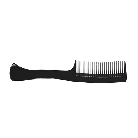 comb: Black hair comb isolated on white background