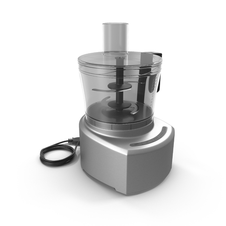 shredder machine: Food processor isolated on a white background.