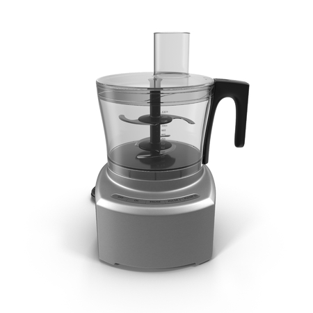 Food processor isolated on a white background.