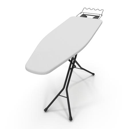 ironing board: Empty ironing board isolated on white background