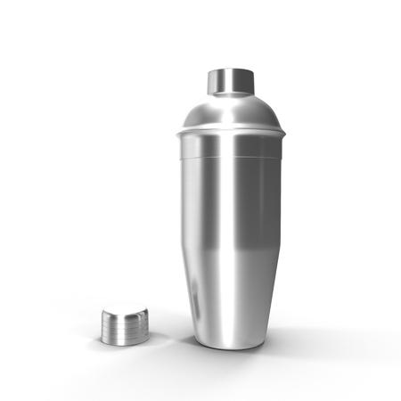 Cocktail shaker. Isolated on white background 3D illustration. Stock Photo