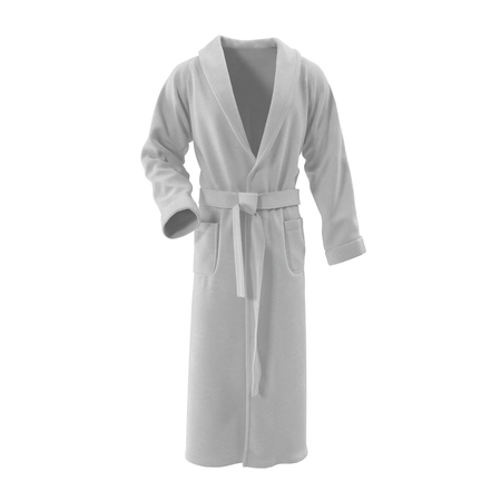 white bathrobe. isolated on white background 3D Illustration