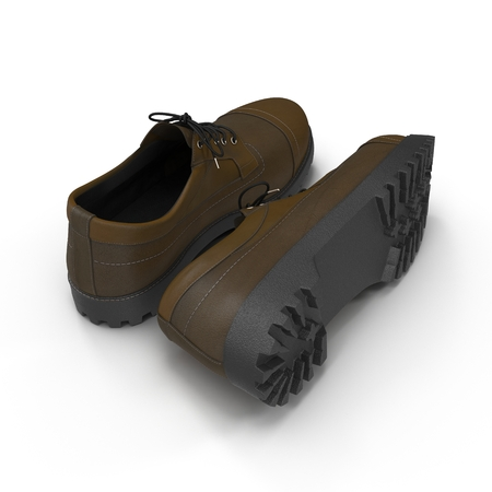 hiking boots: Hiking boots on the white background 3D Illustration