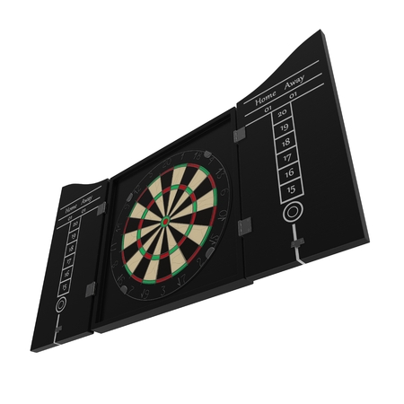 dartboard: Dartboard isolated on white background 3D illustration