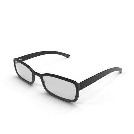 black eye: Black Eye Glasses Isolated on White Background 3D Illustration