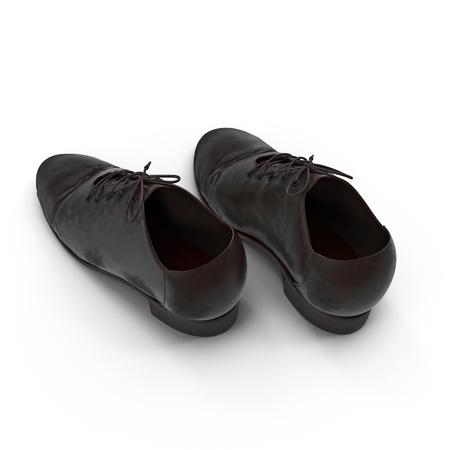used: Used men shoes isolatd on white background 3D Illustration