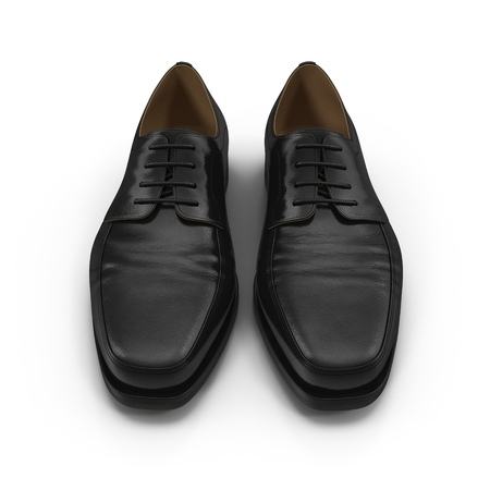 isolatd: Used men shoes isolatd on white background 3D Illustration