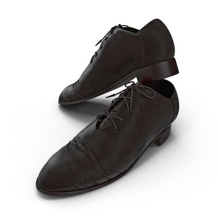 Used men shoes isolatd on white background 3D Illustration