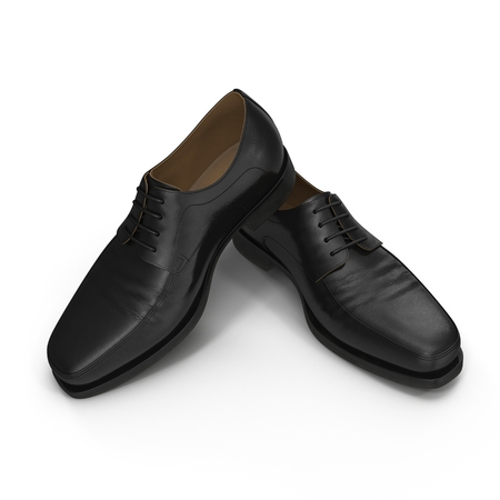 disrupt: Used men shoes isolatd on white background 3D Illustration