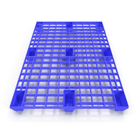hypothesis: Plastic pallet isolated on white background 3D Illustration