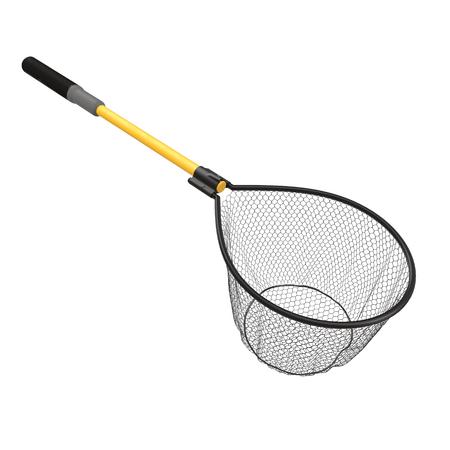 releasing: Fishing Net on White Background 3D Illustration Stock Photo