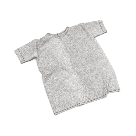 wrinkles: T-Shirt with Wrinkles Isolated on White Background 3D Illustration