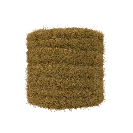 hay bale: Hay pile isolated on a white background as an agriculture farm and farming symbol of harvest time 3D Illustration