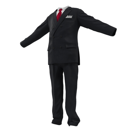 tailored: Men suit isolated on white background 3D Illustration Stock Photo
