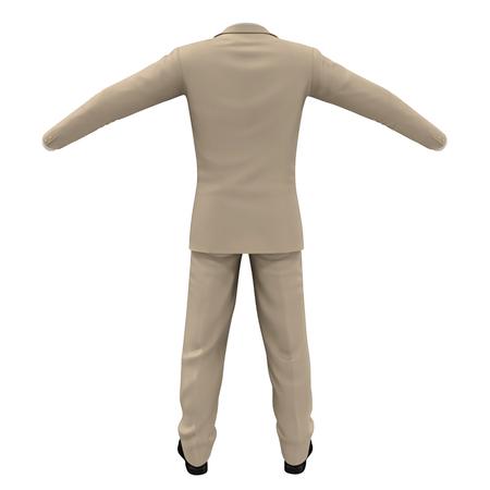 transparent dress: Men suit isolated on white background 3D Illustration Stock Photo