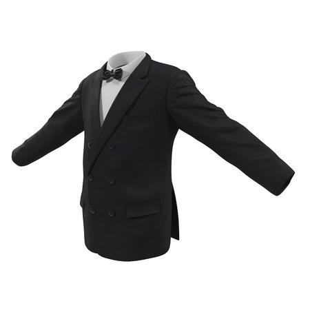 blazer: Mens Suit Jacket on White Background 3D Illustration