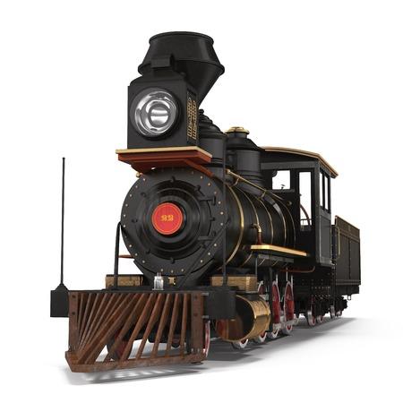 steam train: Steam train on a white background 3D Illustration