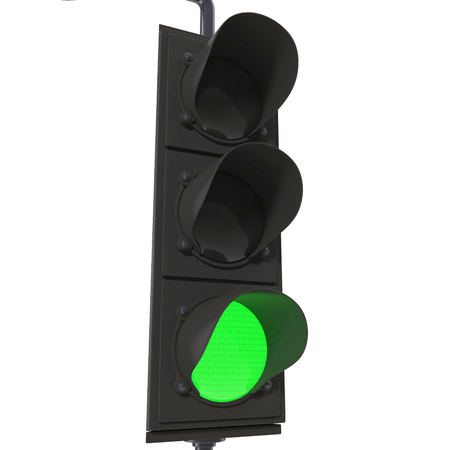 trafficlight: Traffic lights isolated on white background 3D Illustration
