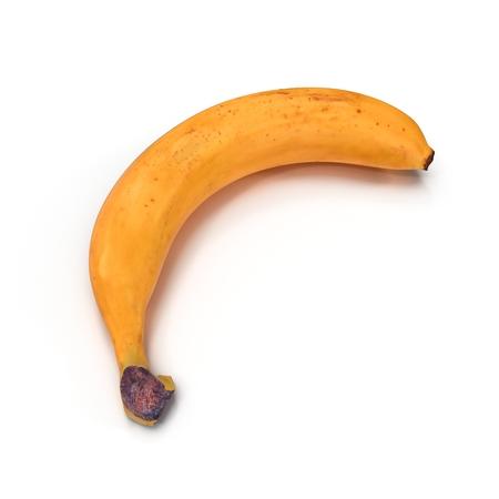 ripe: Fresh ripe banana isolated on white background 3D Illustration