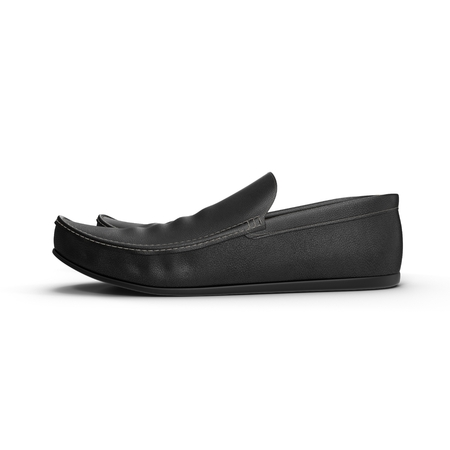 leather shoes: Pair of male classic leather shoes isolated on the white background 3D Illustration