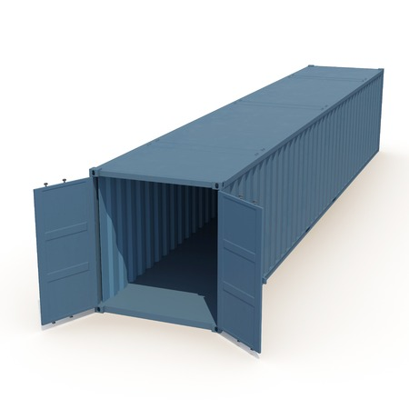 import trade: Cargo container on the white background 3D Illustration Stock Photo