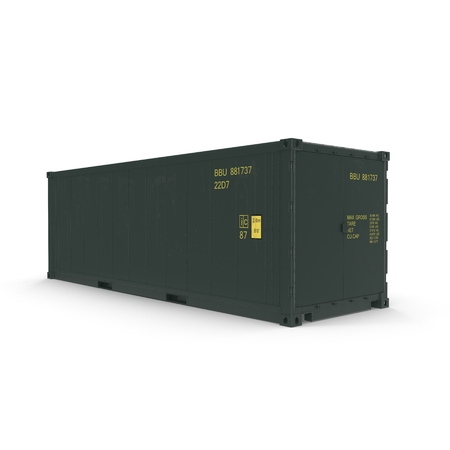 refrigerated: ISO Refrigerated Container isolated on white background 3D Illustration