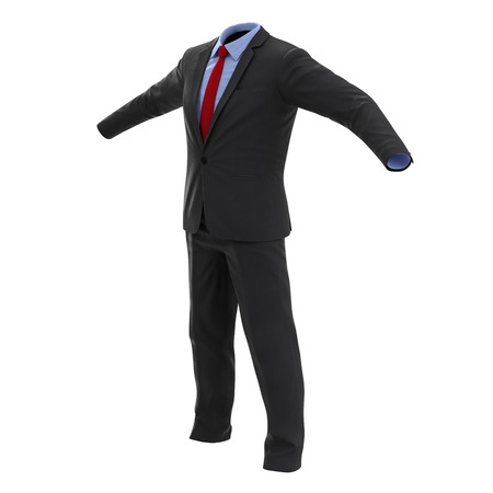 men suit: Men suit isolated on white background 3D Illustration Stock Photo