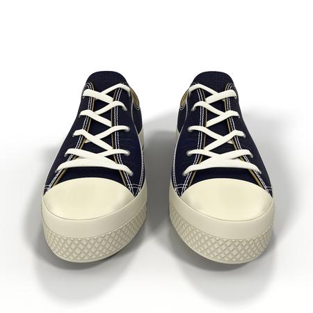 スポーツ メンズ スニーカーに便利です。白い背景に表示されます。3 D イラストレーション