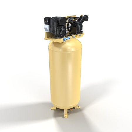 pneumatic: Piston Air Compressor on White Background 3D Illustration