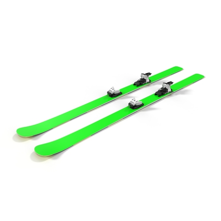 the pair: Pair of skis isolated on white background 3D Illustration
