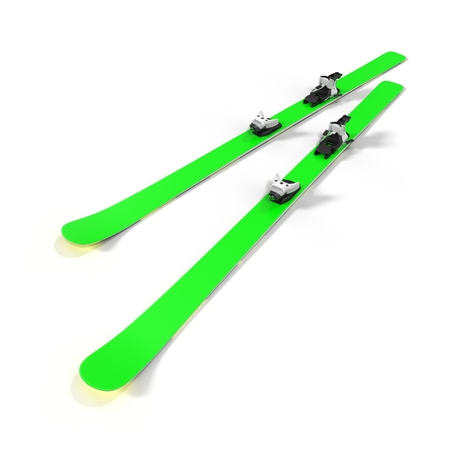 crosscountry: Pair of skis isolated on white background 3D Illustration
