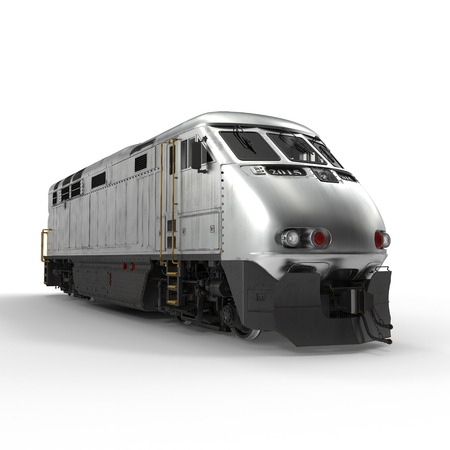 the locomotive isolated: Diesel Electric Locomotive isolated on white background 3D Illustration
