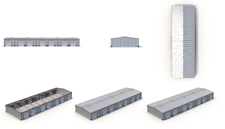 hangar: Hangar Building Isolated on white background 3D Illustration