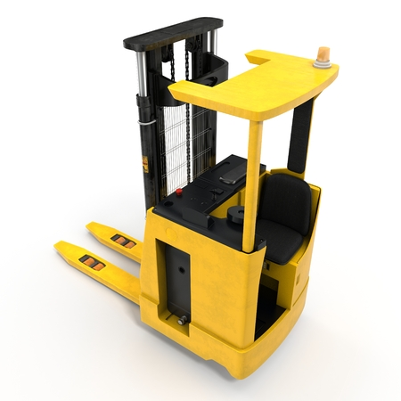 Yellow Rider Stacker isolated on white background 3D Illustration Stock Photo