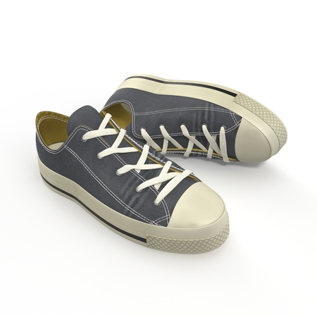 convenient: Convenient for sports mens sneakers. Presented on a white background. 3D Illustration Stock Photo