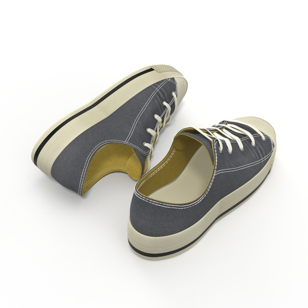 Convenient for sports mens sneakers. Presented on a white background. 3D Illustration Stock Photo