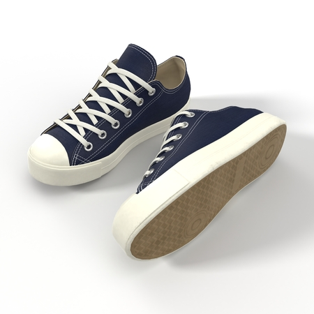 convenient: Convenient for sports mens sneakers. Presented on a white background. 3D illustration