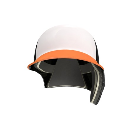 batting: Baseball batting helmet isolated on a white background. Front view. 3D illustration