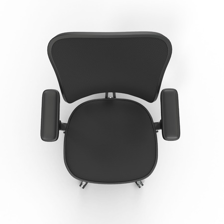ergonomic: Cloth covered office chair, isolated on white background. 3D illustration