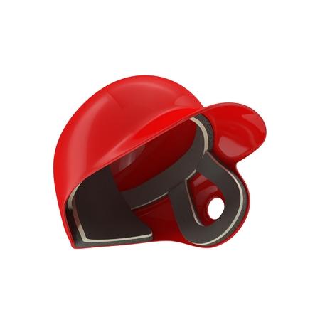 Baseball helmet on white background. 3D illustration